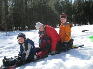 Nicholas with his cousins