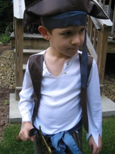 Nicholas looking like a mean pirate!