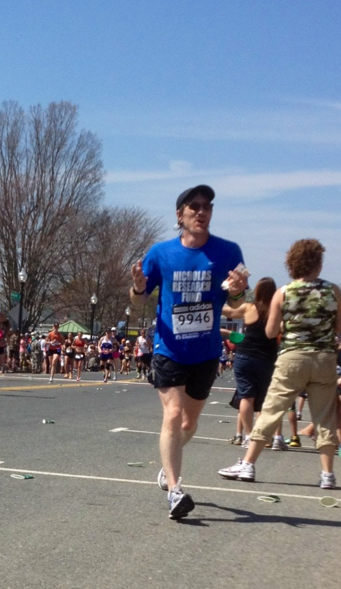 John Tanner in Boston Marathon today
